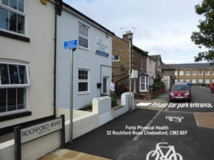Free parkling at Forte Physical Health, Chelmsford